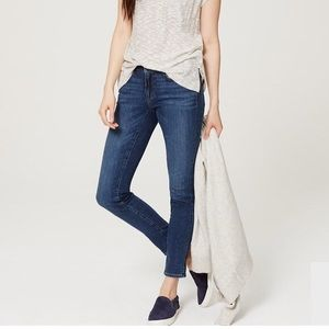 LOFT Modern Skinny Dark Medium Wash Jeans